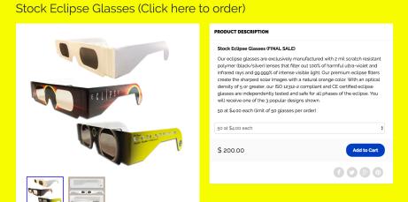 eclipse glasses American Paper Optics
