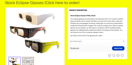 eclipse glasses American Paper Optics
