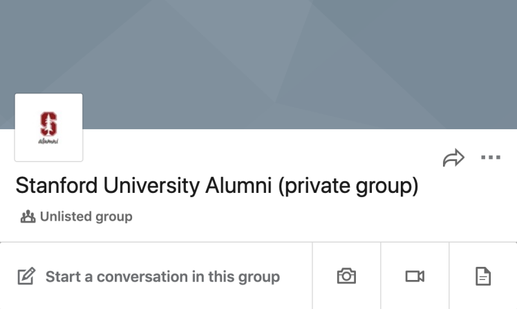 LinkedIn Groups header
